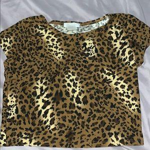 Cheetah crop top